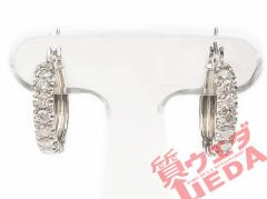 【名東】【JEWELRY】ピアス ダイヤ 1.00ct PT900 プラチナ フープピアス ジュエリー 高級【仕上げ済】