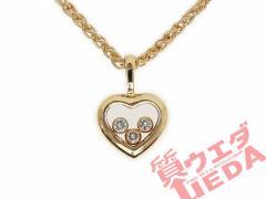 【名東】【CHOPARD】ショパール ネックレス ハッピーダイヤモンド ダイヤ K18YG ゴールド ハート ジュエリー【仕上げ済】