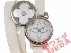【名東】【国内正規】 ルイヴィトン タンブール ビジュ シークレット Q151S 3重巻き シェル ダイヤ レディース クオーツ 腕時計