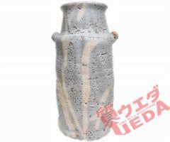 【名東】【花瓶】花瓶安藤日出武 仙山窯 グレー 多治見 陶器【未使用】