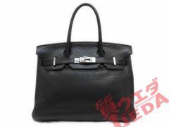【HERMES】エルメス バーキン30 トゴ ブラック BK シルバー金具 □L刻印 ハンドバッグ