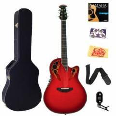 オベーションOvation C2078AX-RTD Custom Elite Deep Contour Cutaway Acoustic-Electric Guitar Bundle with H
