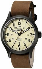 【当店1年保証】タイメックスTimex Mens TWC007000 Expedition Scout Tan/Brown Leather Slip-Thru S