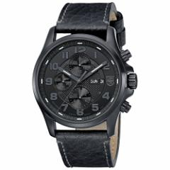 【当店1年保証】ルミノックスLuminox Mens Blackout Valjoux Field Automatic Chronograph - Leather