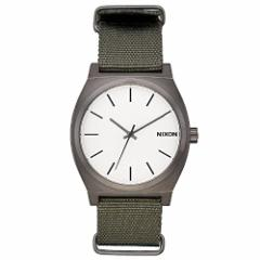 【当店1年保証】ニクソンNEW Nixon Time Teller Nato Watch Gunmetal Silver Surplus