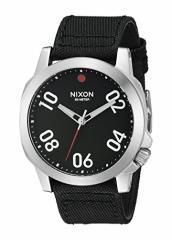 【当店1年保証】ニクソンNixon A514008 Ranger 45 Nylon Black / Red Mens Watch