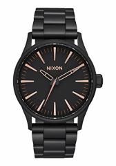 【当店1年保証】ニクソンNixon Sentry 38 SS Watch All Black/ Rose Gold