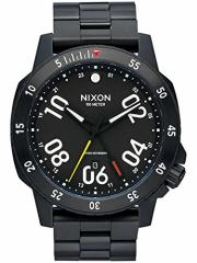 【当店1年保証】ニクソンNixon Mens Ranger A941001 Black Stainless-Steel Swiss Quartz Watch