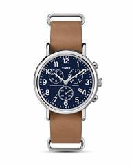 【当店1年保証】タイメックスTimex TWG012800 Mens Weekender Tan Leather and Spare Blue Nylon Chro