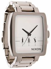 【当店1年保証】ニクソンNixon Mens Axis A3241166 Silver Stainless-Steel Quartz Watch with White D