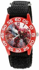 【当店1年保証】マーベルコミックMarvel Kids W002628 Avengers Analog Display Analog Quartz Bla