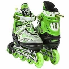 インラインスケートAdjustable Inline Skates for Kids With Illuminating Front Wheels Durable Comfortabl