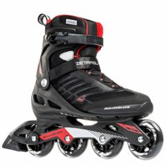 インラインスケートRollerblade 888341063089  Zetrablade Mens Adult Fitness Inline Skate, Black and Re