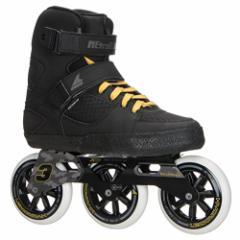 インラインスケートRollerblade Metroblade 3WD Urban Inline Skates - 9.0/Black-Yellow
