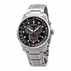 【当店1年保証】シチズンCitizen Brycen Chronograph Black Dial Mens Watch AT2370-55E