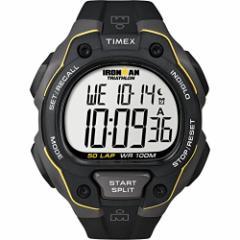 【当店1年保証】タイメックスTimex Mens T5K4949J Ironman Classic 50 Full-Size Black/Yellow Resin