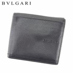 af45faf010a3 ブルガリ BVLGARI 二つ折り 財布 小物 財布 サイフ メンズ ロゴ 【中古】 T8650