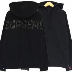 未使用品 シュプリーム Supreme 18SS Studded Hooded Sweatshirt パーカー スウェット プルオーバー スタッズ M Black ベクトル【中古】