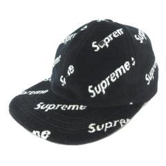 b88b4774 シュプリーム SUPREME キャップ 帽子 Velour Diagonal Logo 6-Panel マルチロゴ ベロア 黒 ブラック