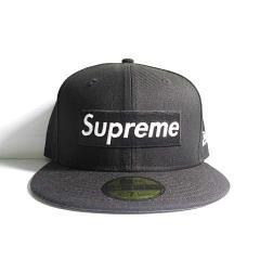 シュプリーム SUPREME 16AW R.I.P Box Logo New Era Cap ボックスロゴ キャップ 帽子 黒 ブラック   7 1/2 メンズ ベクトル【中古】