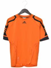 アディダス adidas Tシャツ カットソー スポーツウェア ラグランスリーブ 半袖 オレンジ M 170917R レディース