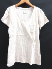 アングリッド UNGRID Tシャツ カットソー 半袖 胸ポケット 薄手 杢 ベージュ F ☆☆ レディース ベクトル【中古】