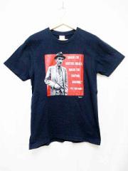 シュプリーム SUPREME 16SS Burroughs Teeバロウズ二世 プリントTシャツMネイビー【ブランド古着ベクトル】【中古】18 ベクトル【中古】