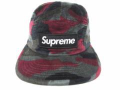 シュプリーム SUPREME 13AW Velvet Camo Camp Cap キャンプキャップ 帽子 ボックスロゴ ベロア 迷彩 カモフラ メンズ ベクトル【中古】