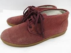 シュプリーム SUPREME スエード チャッカシューズ ワインレッド 暗赤系 US9.5 27.5cm相当 靴 レザー 革 スウェード AAC ベクトル【中古】