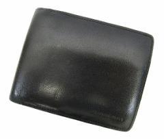 バーバリー BURBERRY 二つ折り財布 レザー 札入れ 小銭入れ無し 黒 ブラック C94295 メンズ ベクトル【中古】