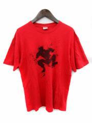 シュプリーム SUPREME Tシャツ 半袖 プリント 赤 L /☆Q17 メンズ ベクトル【中古】
