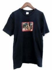 シュプリーム SUPREME Tシャツ カットソー Larry Clark Girl tee 半袖 総柄 17SS L 紺 /TK メンズ ベクトル【中古】