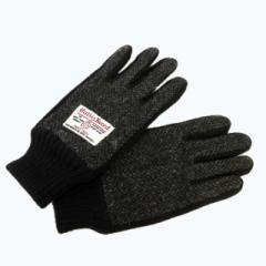 ハリスツイード Harris Tweed スマホ対応 グローブ 手袋 ツイード ウール 黒 グレー ブラック 0711 メンズ ベクトル【中古】