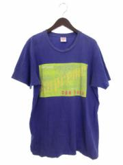 シュプリーム SUPREME DONDADA Tシャツ カットソー ワンポイント プリント 英字 L 紫 パープル ☆AA★ ays メンズ ベクトル【中古】
