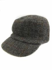 ハリスツイード Harris Tweed 帽子 キャスケット チェック ウール グレー /NS26 メンズ レディース ベクトル【中古】