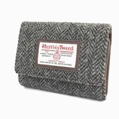 ハリスツイード Harris Tweed 財布 二つ折り 小銭入れ ヘリンボーン ダークグレー メンズ ベクトル【中古】