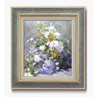 名画額F10号 ルノワール「花瓶の花」 17921