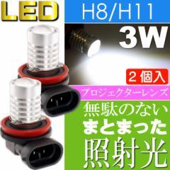 送料無料 LEDフォグランプ プロジェクター3W H8 H11兼用 2個入 asT01