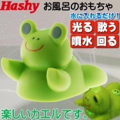 送料無料 光って歌うよ ふんすいガエル緑HB-2310 お風呂のおもちゃ Ha007