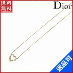 (美品・即納) クリスチャン・ディオール Christian Dior ネックレス ハートモチーフ【中古】 X10301