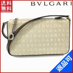 美品 即納 ブルガリ バッグ BVLGARI ショルダーバッグ ロゴマニア 【中古】 X12427