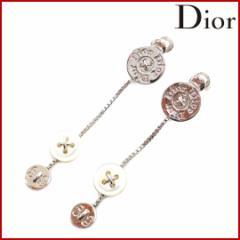 (良品) クリスチャン・ディオール Christian Dior イヤリング アクセサリー レディース ロゴボタンモチーフ ロゴ【中古】 X4942