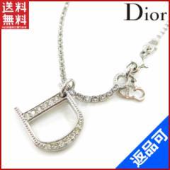 人気 良品 クリスチャン・ディオール Christian Dior ブレスレット アクセサリー ラインストーン【中古】 X6390