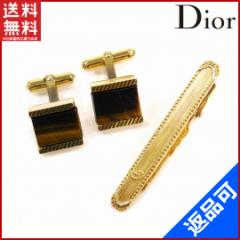 人気 激安 クリスチャン・ディオール アクセサリー Christian Dior タイピン カフス メンズ 2点アイテムセット 【中古】 X6970