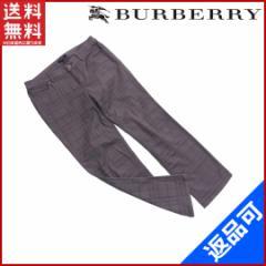 良品 人気 バーバリー BURBERRY パンツ クロップド丈 メンズ ♯40サイズ チェック【中古】 X7076