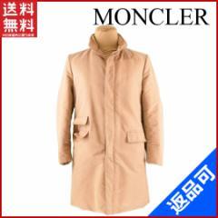 良品 人気 モンクレール MONCLER コート 内臓フード付き ロング丈 メンズ ♯2サイズ シングル コットンダウン【中古】 X7703