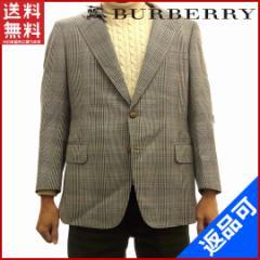 激安 即納 バーバリー BURBERRY ジャケット メンズ シングル チェック【中古】 X9879