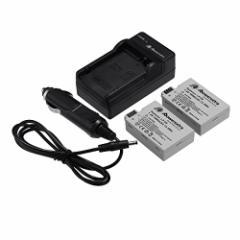 Powerextra キャノン Canon LP-E8 互換バッテリー 【2個+充電器セット】 EOS 550D,600D,650D,700D EOS Kiss X4, X5, X6i対応 残量表示&