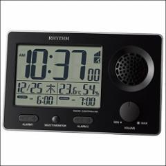 リズム時計 CITIZEN シチズン クロック 8RZ149SR02 電波目覚まし時計 スーパークリアトーンFSR