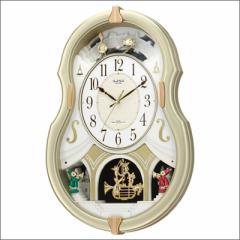 リズム時計 クロック 4MN496RH18 電波掛け時計 スモールワールドコンチェル